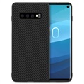 Cover in Fibra di Carbonio Nillkin Synthetic per Samsung Galaxy S10 - Nera