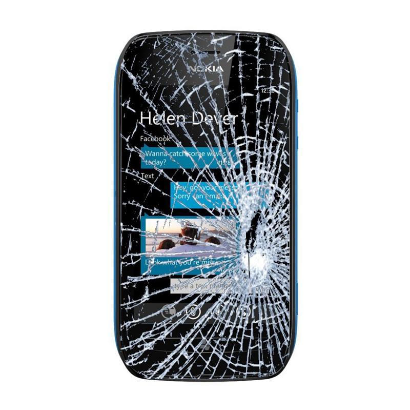del Vetro del Display e Touch Screen del Nokia Lumia 710 - Nero