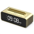 OneDer V06 Stereo Bluetooth Speaker / Alarm Clock - 10W - Gold