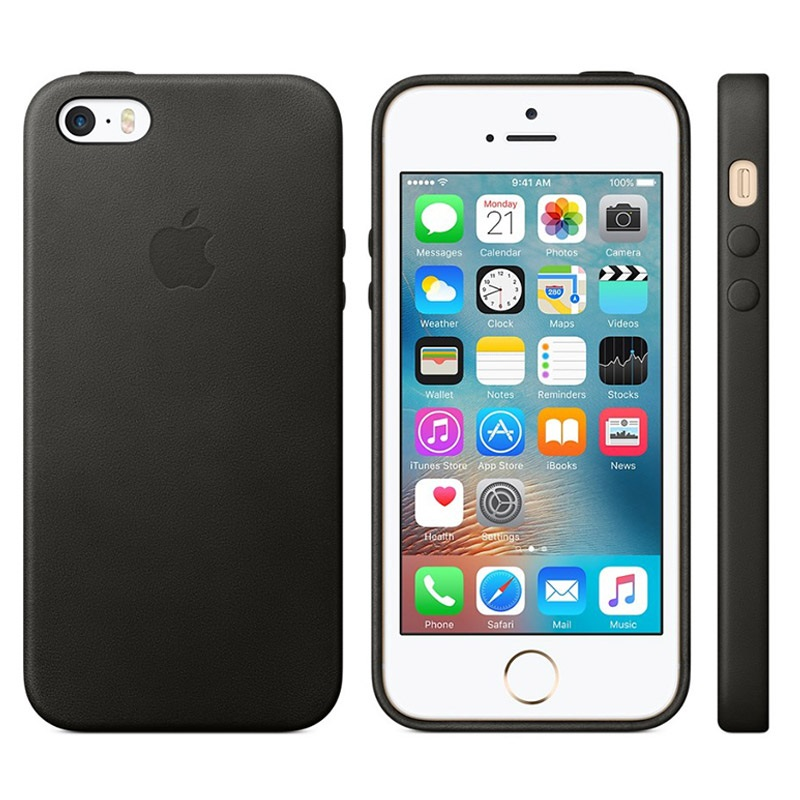 custodia iphone 6s nera pelle