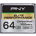 PNY Elite Performance Compact Flash Memory Card - 64GB
