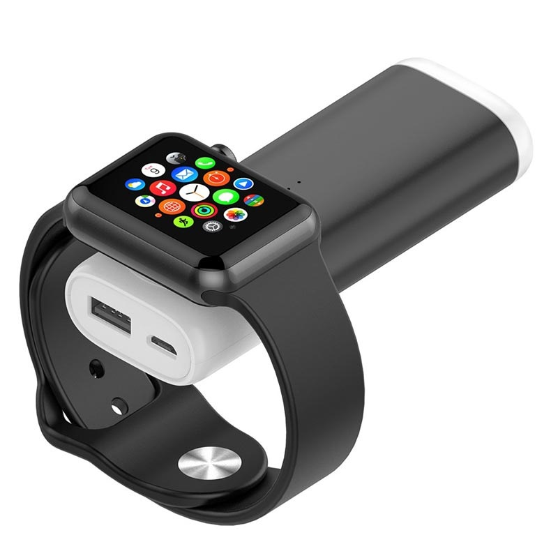 Portable Apple Watch Wireless Charger / Power Bank - Black