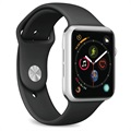 Puro Icon Apple Watch Series 5/4/3/2/1 Silicone Band - 38mm, 40mm - Black