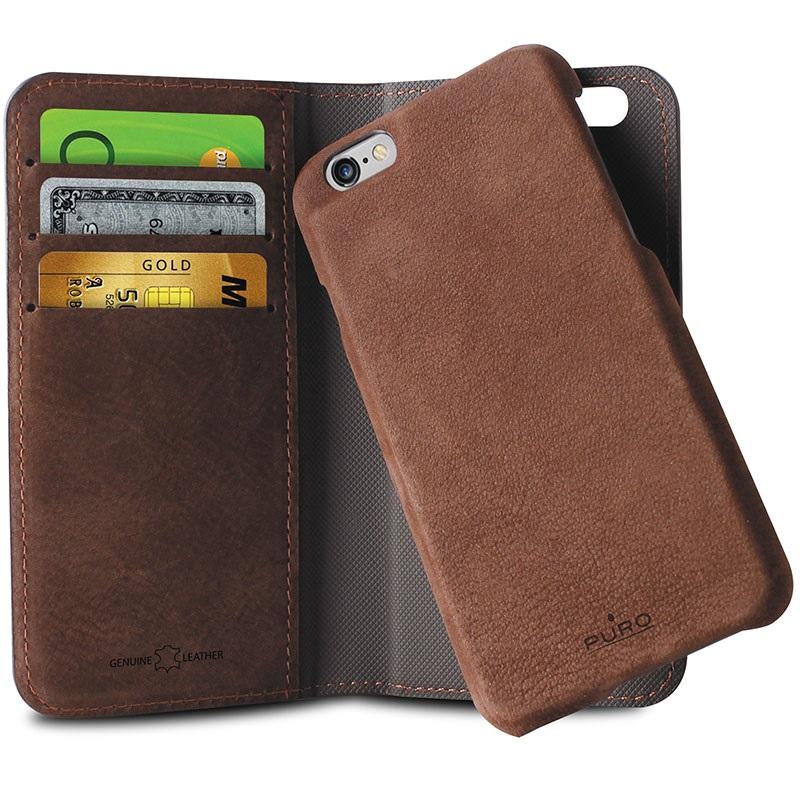 custodia iphone 6 plus portafoglio magnetica