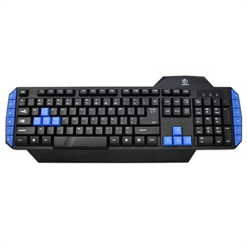 Rebeltec Warrior Gaming Keyboard with 12 Multimedia Keys - Black / Blue
