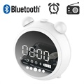Altoparlante Bluetooth Retro con Radio FM e Sveglia a LED JKR-8100 - Bianco