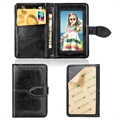 Retro Style Universal Stick-On Wallet for Smartphones - Black