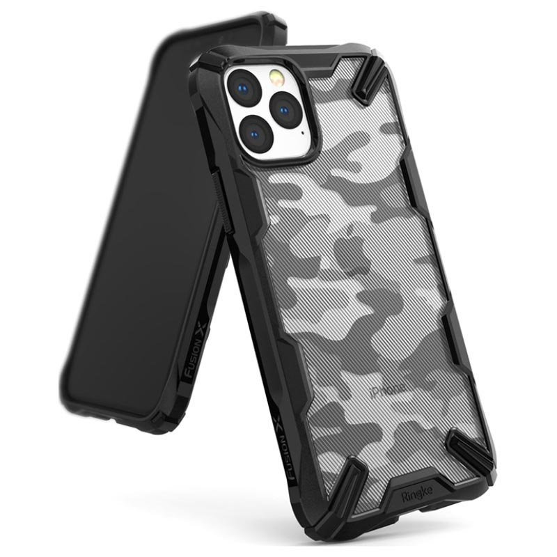Custodia Ibrida Ringke Fusion X Design per iPhone 11 Pro - Camouflage / Nero