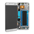 Cover Frontale con Display LCD GH97-18533B per Samsung Galaxy S7 Edge - Color Argento