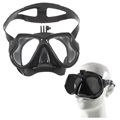 Scuba Diving Mask with Universal Action Camera Mount - Black