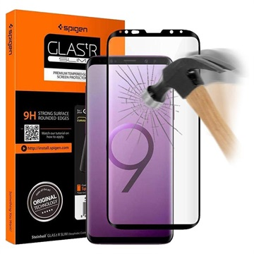Spigen Glas.tR Slim Samsung Galaxy S9 Screen Protector - Black