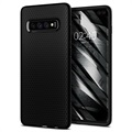 Cover in TPU Spigen Liquid Air per Samsung Galaxy S10+ - Nero