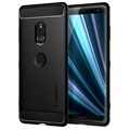 Cover in TPU Spigen Rugged Armor per Sony Xperia XZ3 - Nero