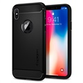 Cover Spigen Rugged Armor per iPhone X / iPhone XS - Nero Opaco