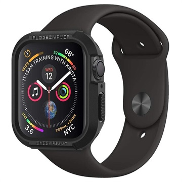 Cover in TPU Spigen Rugged Armor per Apple Watch Series 5/4 - 40mm - Nero