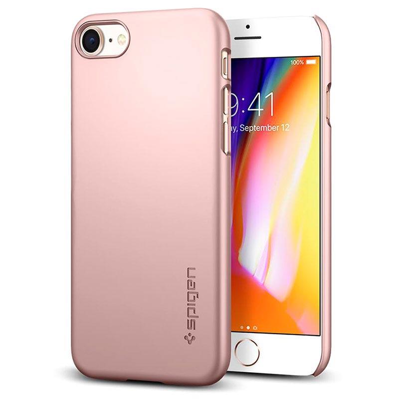 100% autentico 46c49 6a4ae Custodia Spigen Thin Fit per iPhone 7 / iPhone 8 - Rosa Oro