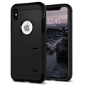 Cover Spigen Tough Armor per iPhone X / iPhone XS - Nero Opaco