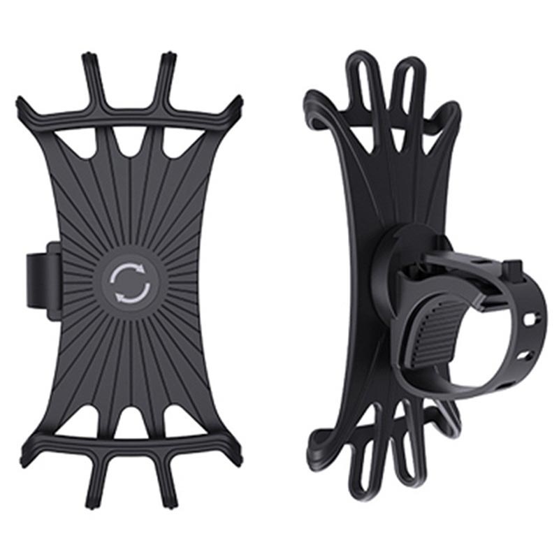 Universal 360-Degree Rotation Silicone Bike Holder - 4-6""