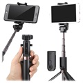 Selfie Stick 3-in-1 Bluetooth Universale con Treppiede - Nero