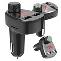 Universal Car Charger and Bluetooth FM Transmitter G13 - Black