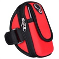 Universal Double Pocket Armband BBD-003 - XXL - Red