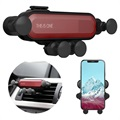 Universal Gravity Air Vent Car Holder for Smartphone - Red