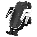 Baseus Smart Air Vent Car Holder / Qi Wireless Charger - Black