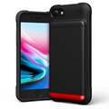 VRS Damda Shield iPhone 7 / iPhone 8 Cover with Cardholder - Black