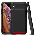 VRS Damda Shield iPhone X / iPhone XS Cover with Cardholder - Black