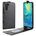 Huawei P30 Pro Vertical Flip Case with Card Slot - Black