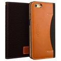 Custodia a Portafoglio in Pelle Wetherby Premium Basic per iPhone 6/6S - Marrone Scuro