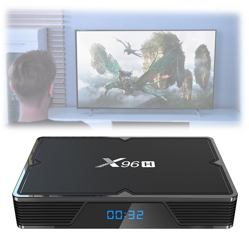 X96H Powerful 6K TV Box with Android 9.0 - 4GB RAM, 64GB ROM