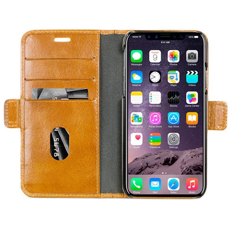 custodia iphone x portafoglio pelle
