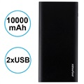Power Bank iMyMax X10 Slim - 10000mAh - 2 x USB - Nero