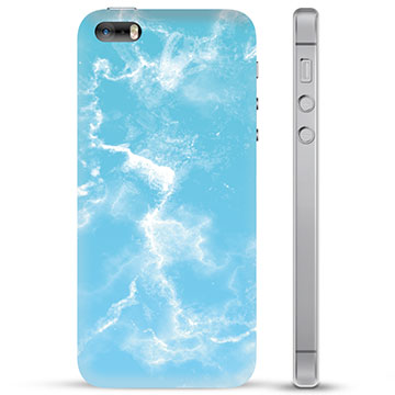 Custodia Ibrida per iPhone 5/5S/SE  - Marmo Blu