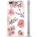 Custodia Ibrida per iPhone 5/5S/SE  - Fiori Rosa