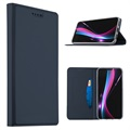 Huawei P20 Slim Flip Case with Card Slot - Dark Blue