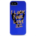 Cover TPU Puro Just Cavalli per iPhone 5 / 5S / SE - Blu