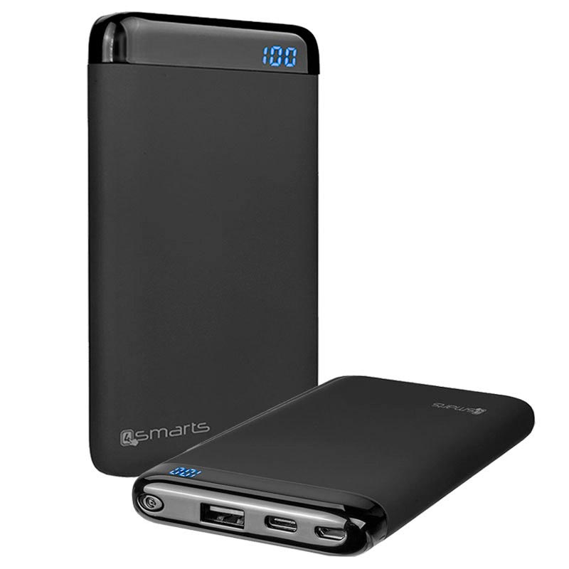 4smarts All-In-One Charging Set - Power Bank & 3-in-1 Cable - Black