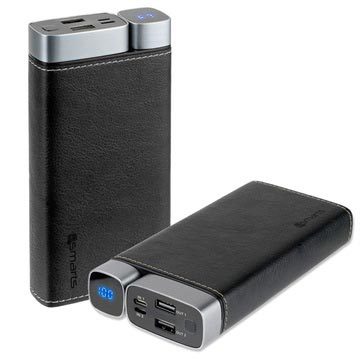 Power Bank 4smarts VoltHub Leatherette - 20000mAh - Nero