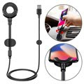 Baseus 3-in-1 Lightning Car Cable / Holder - iPhone X/XS max/8 Plus/7 Plus