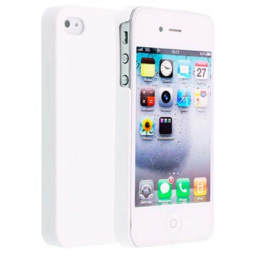 Custodia Rigida Rivestita Code per iPhone 4 / 4S - Bianca