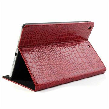 Custodia Folio per iPad Air - Coccodrillo - Rossa