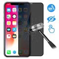 Devia 3D Full Glass Privacy iPhone X / iPhone XS Screen Protector - 9H, 0.26mm - Black