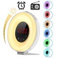 Digital Alarm Clock Radio with Colorful LED Light