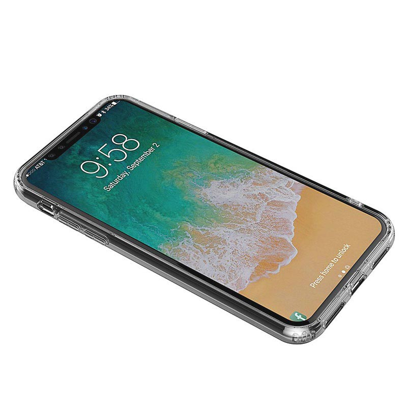 Custodia Anti-Shock TPU per iPhone X / iPhone XS - Trasparente