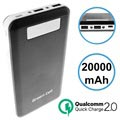 Green Cell PB93 Qualcomm QC 2.0 Power Bank - 20000mAh - Black