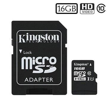 Scheda di Memoria MicroSDHC Kingston Canvas Select SDCS/16GB