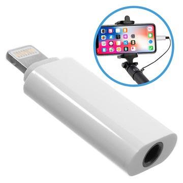 Lightning   3.5mm Selfie Stick Adapter - iPhone X 8 8 Plus - White ddeb7d82a752