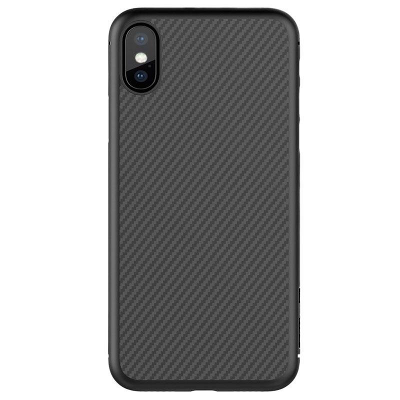 Custodia in Fibra di Carbonio Nillkin Synthetic per iPhone X - Nera